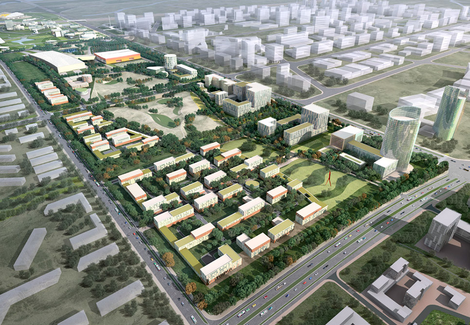Karamay expo district master plan nbbj for Office design expo