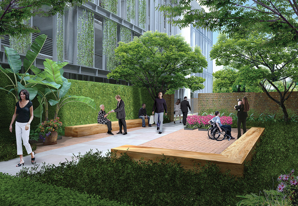 Southeast louisiana veterans health care system nbbj - Landscape design for small spaces style ...