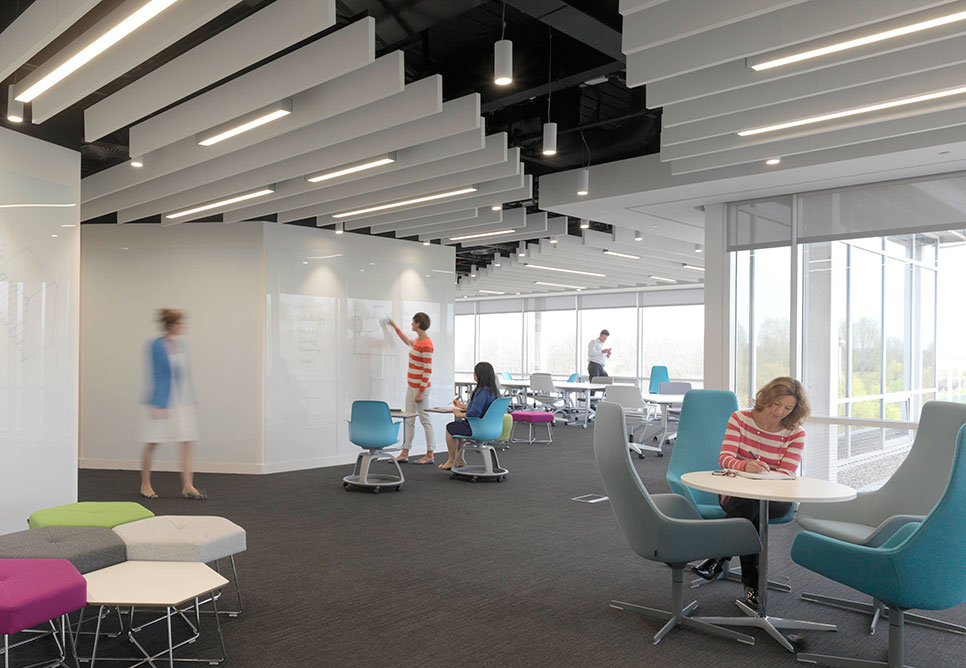 Confidential pharmaceutical company nbbj for Office design research