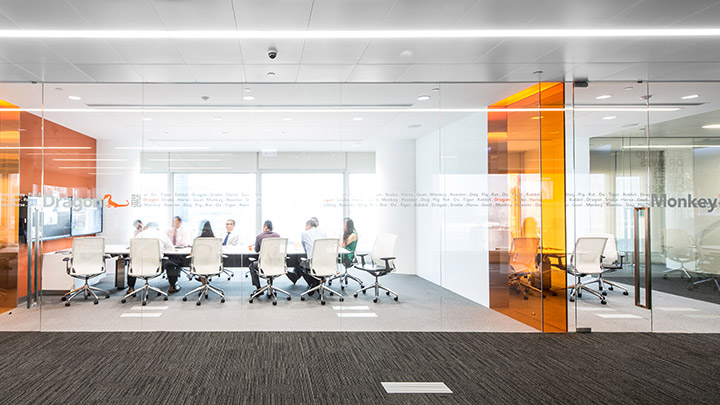Confidential financial media company nbbj for Office design guidelines uk
