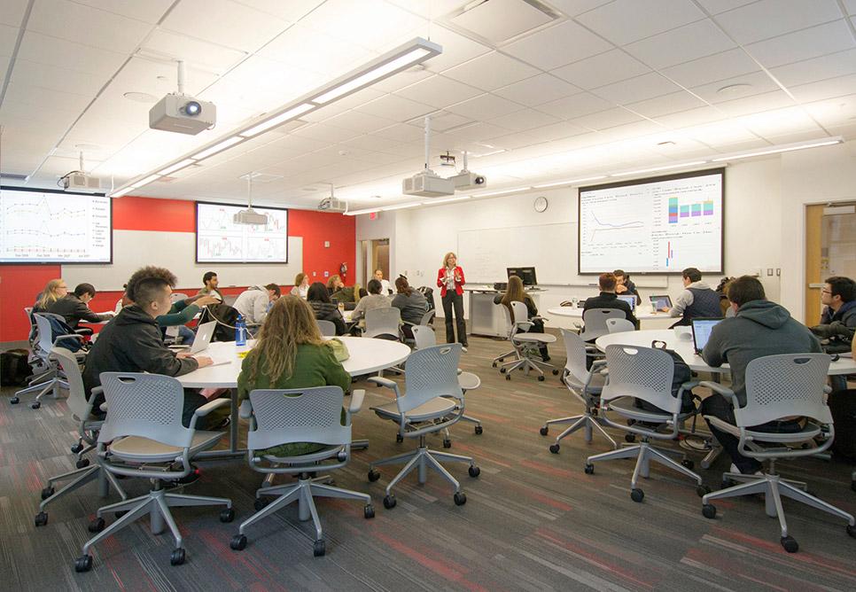 Classroom Design Scholarly ~ Suffolk university nbbj