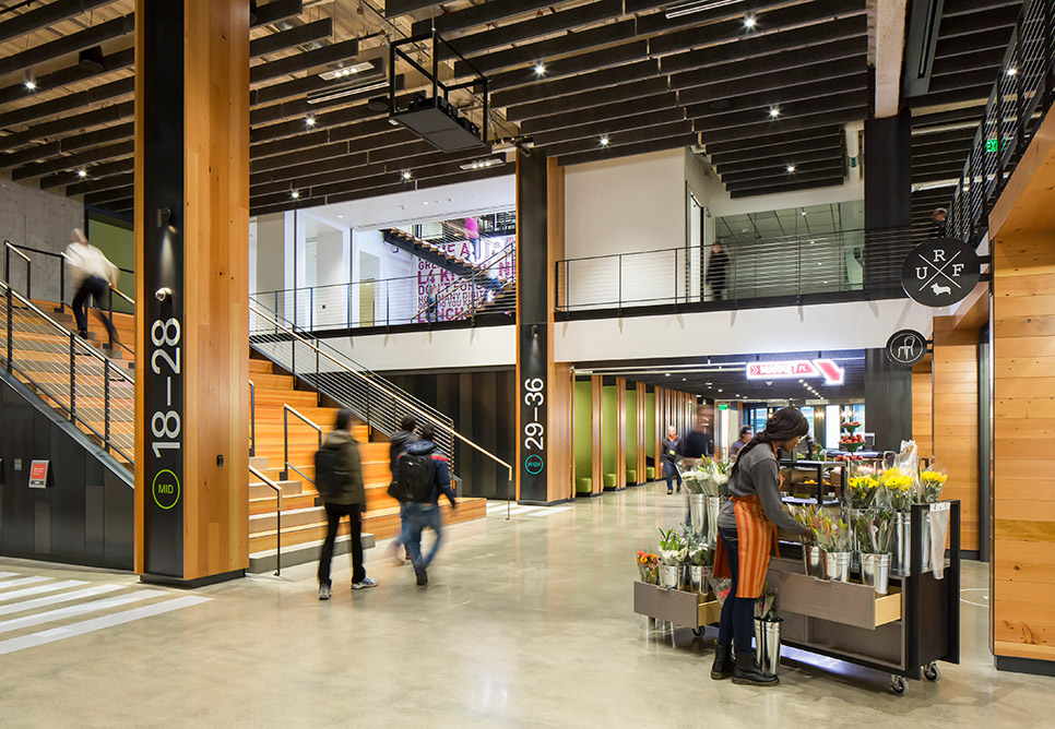 Amazon in the regrade nbbj for Office design expo