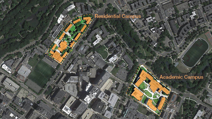 simmons college campus map. additional recommendations included improvements to the campus entrances, open spaces, institutional identity, connections between buildings, simmons college map